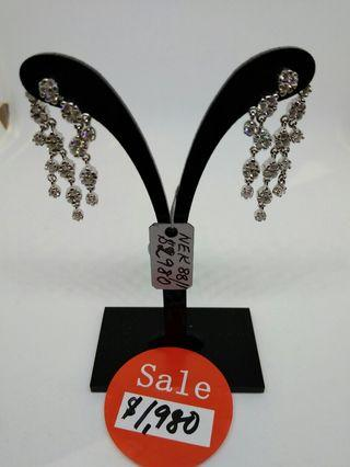 🚚 Diamond White gold Earrings