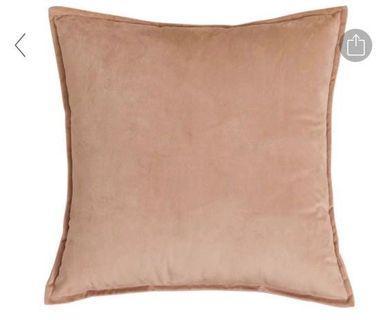 Brand new sateen velvet khaki cushion cover