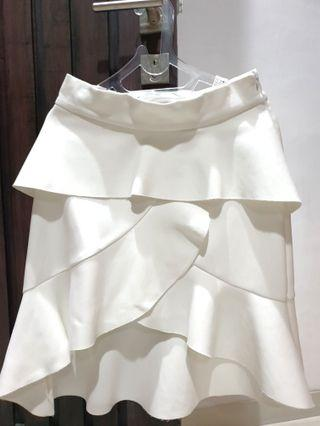 Zara white flare skirt