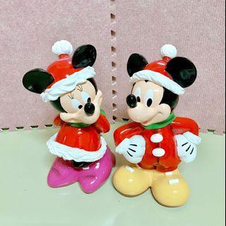 🚚 迪士尼米奇米妮存錢筒-聖誕款