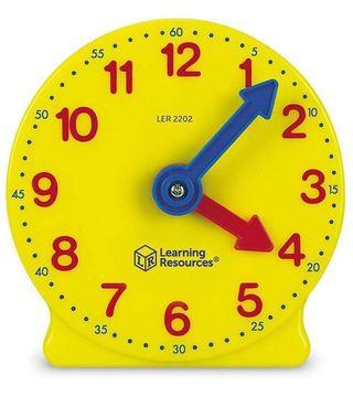 """[New] Learning Resources Geared 4"""" Learning Clock"""