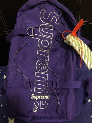 Supreme FW18 backpack purple (no included the off white tag)