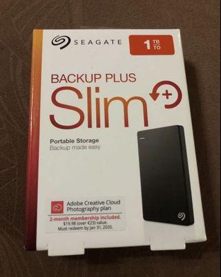 Seagate Backup Plus Slim 1TB (BNIB Sealed with warranty)