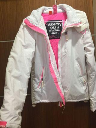 Superdry白色風衣外套