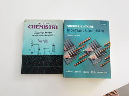 🚚 Chemistry books. For a levels.