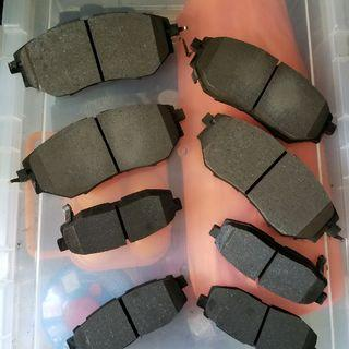 SUBARU FORESTER REAR AND FRONT BRAKE PADS 掃巴佬前後迫力皮