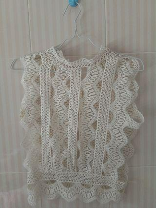 Outer White Lace Top