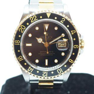 Preowned Rolex GMT Master II in Half Gold Ref: 16713