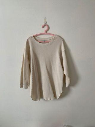 Beige Knitted Tee