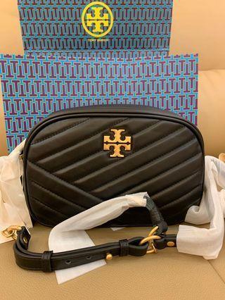 Authentic Tory Burch women Crossbody bag Kira chevron camera bag