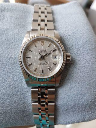 帝舵刁陀Tudor Princess 公主型自動日曆18KWG SS手錶