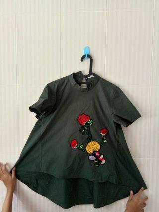 Dark Green Blouse