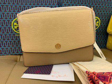 Authentic Tory Burch Robinson convertibles shoulder bag mix material
