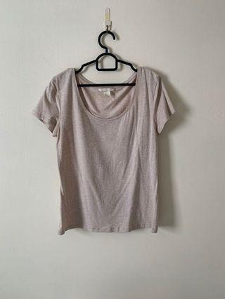 H&M Beige Basic Top