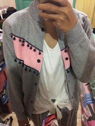 Grey boomber Jacket