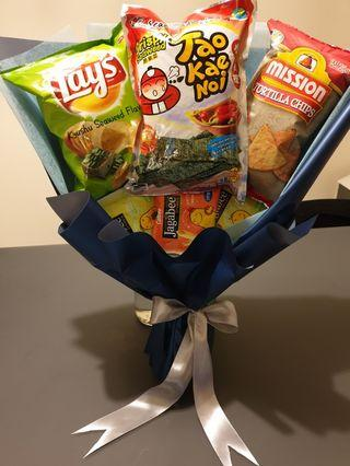 Snacks bouquet / Birthday bouquet / Unique bouquet