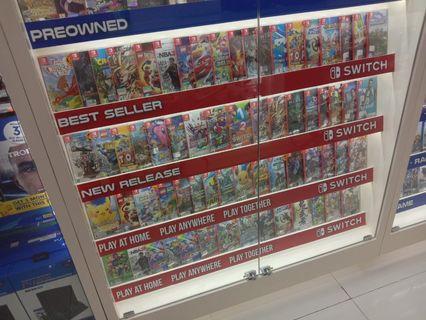 PS4 & NINTENDO SWITCH CASSET Original & Pre Owned