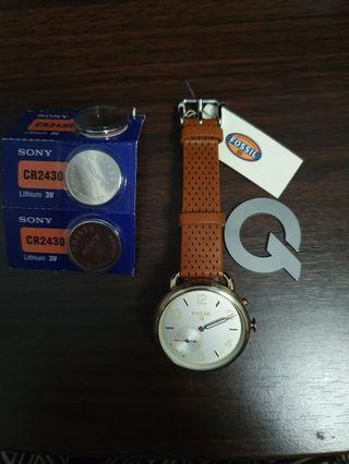 Fossil Q Hybrid Smartwatch Tailor *free batteries*