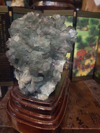 禄映石原矿小四方块 730g  Green fluorite natural stone 一凡风顺