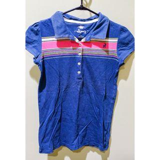 #BAPAU kaos berkerah anak biru tua / navy blue collared shirt