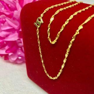 Ready No Waiting 916 Gold Adult Necklace (twisted)