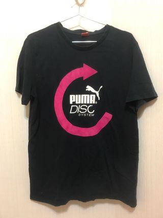Puma Pump Disc System T恤 黑粉紅