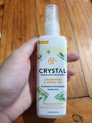 Crystal Mineral Deodorant Spray Chamomile and Green Tea