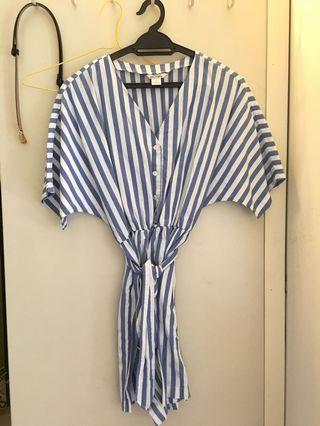 Monki stripes romper