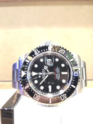 "Brand New Rolex Oyster Sea Dweller 43 ""Red"" 126600 Black Dial Automatic Steel Casing Bracelet"