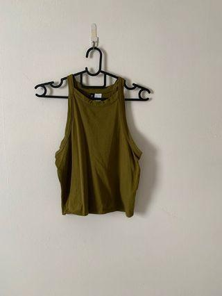 Halter Olive Green Top