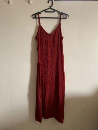 Cotton On Red Satin Dress