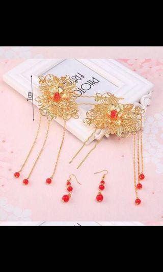 🚚 Gold hair pin set