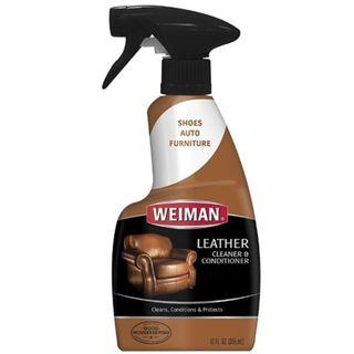 Weiman Leather Cleaner and Conditioner UV Protection Prevent Cracking Fading For Leather 12 Ounces