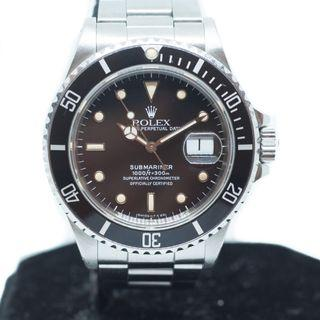 Preowned Rolex Submariner in Steel Ref: 168000
