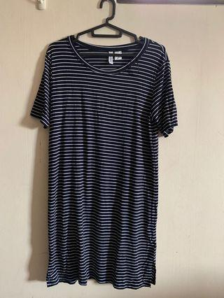 H&M T-Shirt Dress with Stripe Design