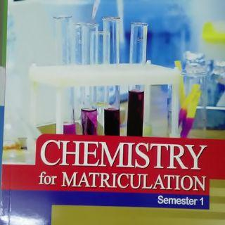 CHEMISTRY FOR MATRICULATION