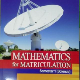 MATHEMATICS FOR MATRICULATION