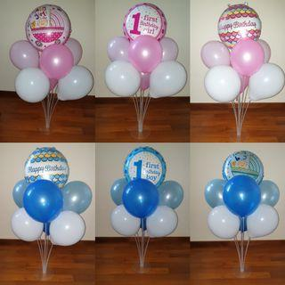 70cm Party Decoration Stand with balloons (Ready Stock)