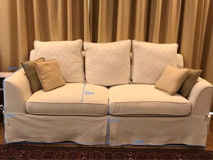 180cm sofa - removable covers (x2)
