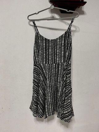 Factorie's Black and white stripe short dress