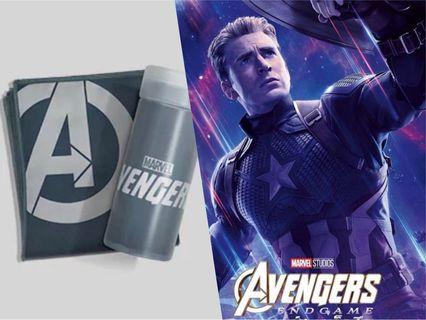 Marvel Sports Towel + Captain America Poster