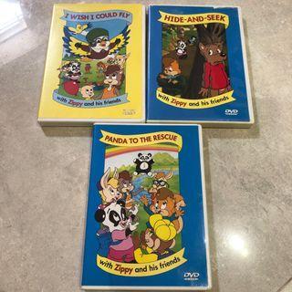 迪士尼美語世界 DVD Zippy 系列 3隻