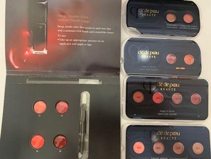 Cle de peau lipstick sample 5pcs