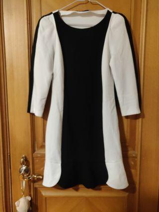 Zara Black and White striped dress/黑白間條裙