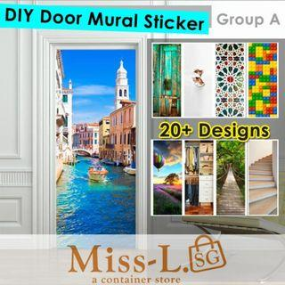 🏅🏅FUNLIFE DIY DOOR MURAL STICKERS