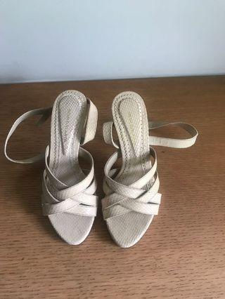 High heeled sandal