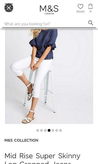 AUTHENTIC BRAND NEW MARK & SPENCER WHITE PANTS