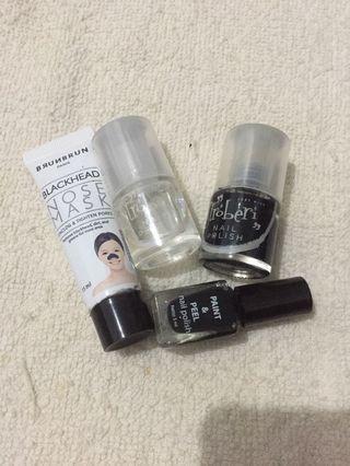 Nail polish & nose mask