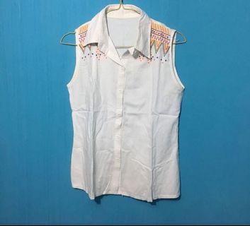 #bapau short white shirt