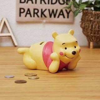 🌈現貨🇯🇵日本直送✈️「Disney迪士尼」Winnie the Pooh小熊維尼可愛儲蓄罐 貯金箱 錢甖 草錢 禮物